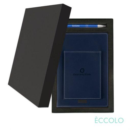 Eccolo® Austin Journal/Clicker Pen Gift Set - (M) Navy Blue