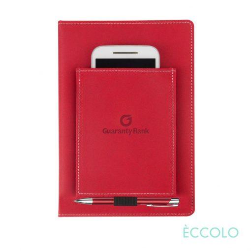 Eccolo® Austin Journal/Clicker Pen - (M) Red