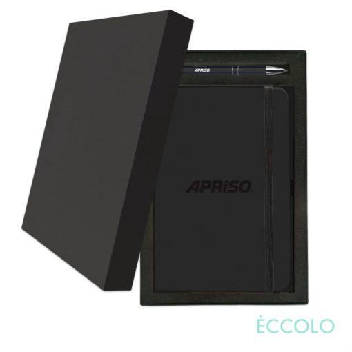 Eccolo® Calypso Journal/Clicker Pen Gift Set - (M) Black