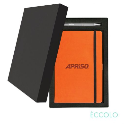 Eccolo® Calypso Journal/Clicker Pen Gift Set - (M) Orange