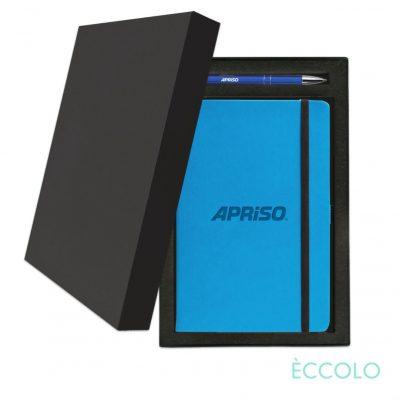 Eccolo® Calypso Journal/Clicker Pen Gift Set - (M) Teal Blue