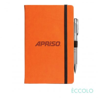 Eccolo® Calypso Journal/Clicker Pen - (M) Orange
