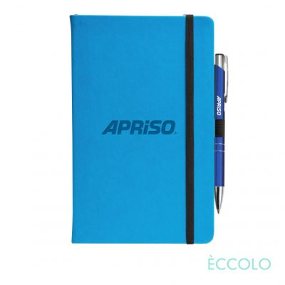 Eccolo® Calypso Journal/Clicker Pen - (M) Teal Blue