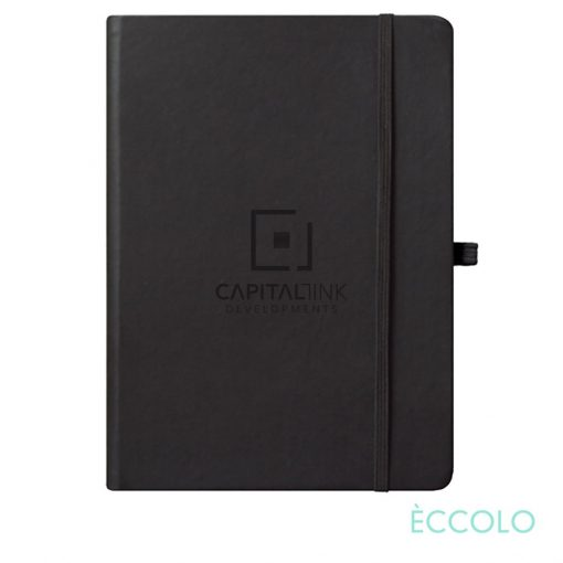 "Eccolo® Cool Journal - (L) 7""x9¾"" Black"