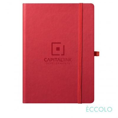 "Eccolo® Cool Journal - (L) 7""x9¾"" Red"