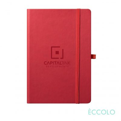 "Eccolo® Cool Journal - (M) 5¾""x8¼"" Red"