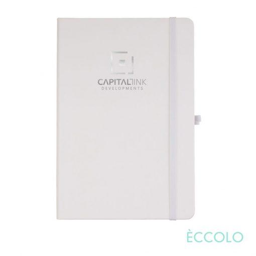 "Eccolo® Cool Journal - (M) 5¾""x8¼"" White"