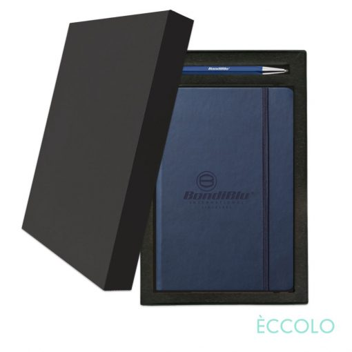 Eccolo® Cool Journal/Atlas Pen/Stylus Pen Gift Set - (M) Navy Blue