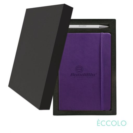 Eccolo® Cool Journal/Atlas Pen/Stylus Pen Gift Set - (M) Purple