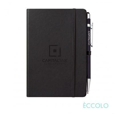 Eccolo® Cool Journal/Atlas Pen/Stylus Pen - (M) Black