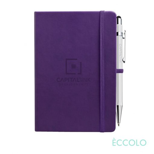 Eccolo® Cool Journal/Atlas Pen/Stylus Pen - (M) Purple