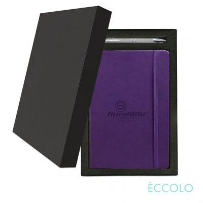 Eccolo® Cool Journal/Clicker Pen Gift Set - (M) Purple