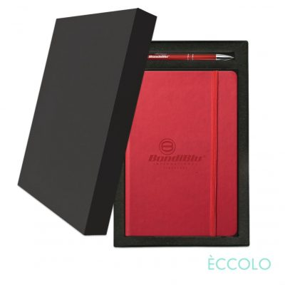 Eccolo® Cool Journal/Clicker Pen Gift Set - (M) Red