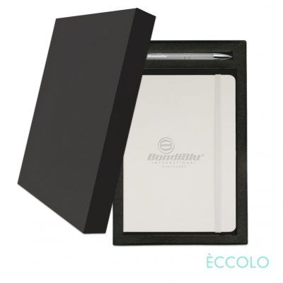 Eccolo® Cool Journal/Clicker Pen Gift Set - (M) White