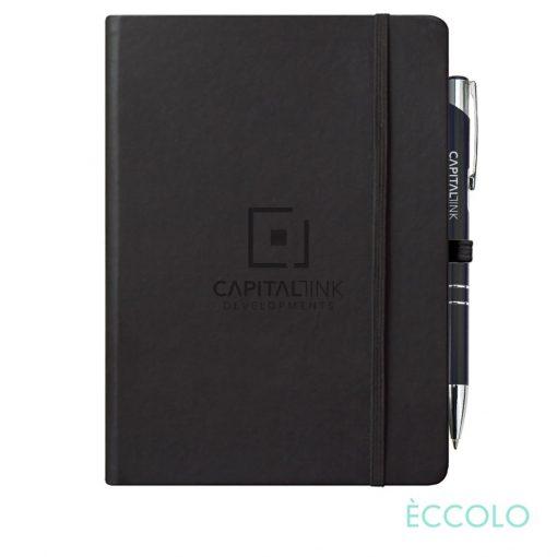 Eccolo® Cool Journal/Clicker Pen - (L) Black