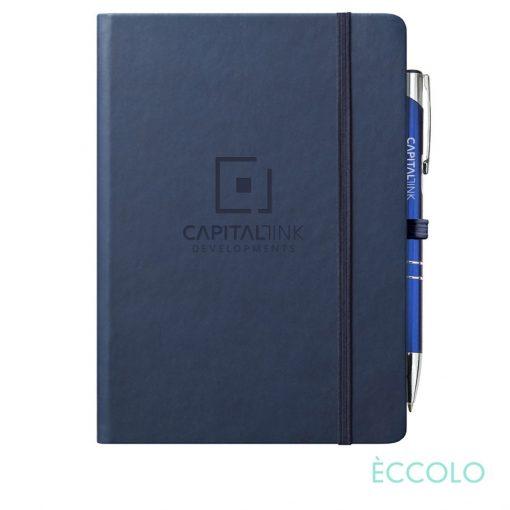 Eccolo® Cool Journal/Clicker Pen - (L) Navy Blue