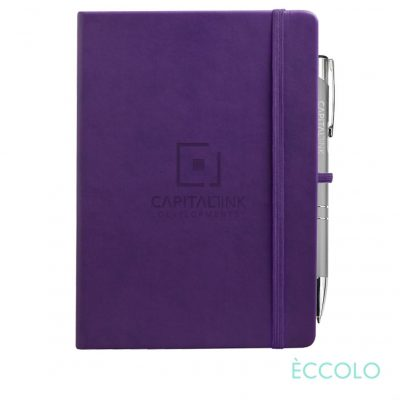 Eccolo® Cool Journal/Clicker Pen - (L) Purple