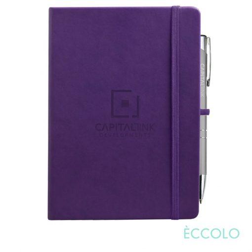 Eccolo® Cool Journal/Clicker Pen - (L) Purple