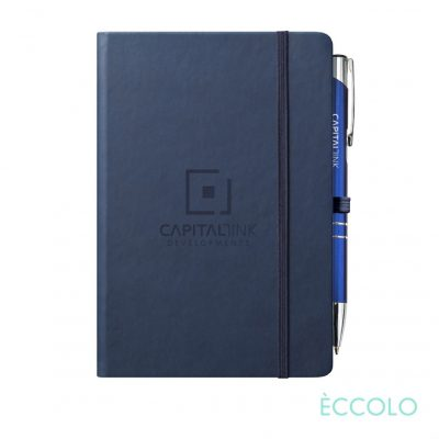 Eccolo® Cool Journal/Clicker Pen - (M) Navy Blue