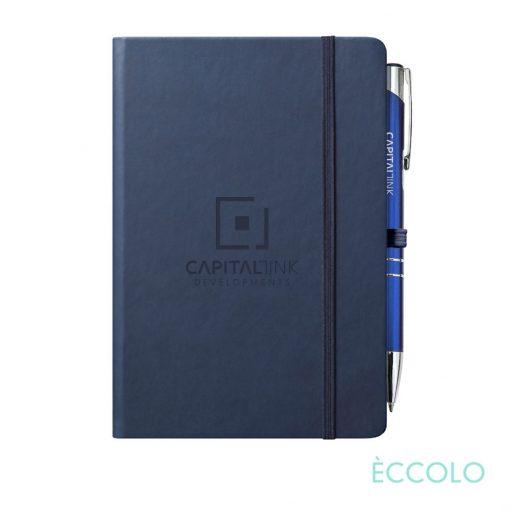 Eccolo® Cool Journal/Clicker Pen - (M) Navy Blue