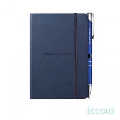 Eccolo® Cool Journal/Clicker Pen - (S) Navy Blue