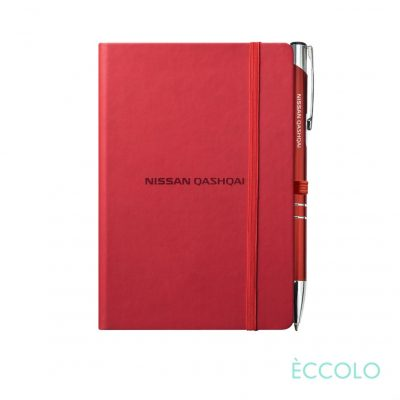 Eccolo® Cool Journal/Clicker Pen - (S) Red