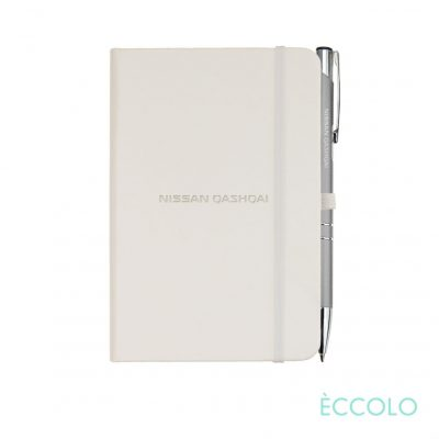 Eccolo® Cool Journal/Clicker Pen - (S) White