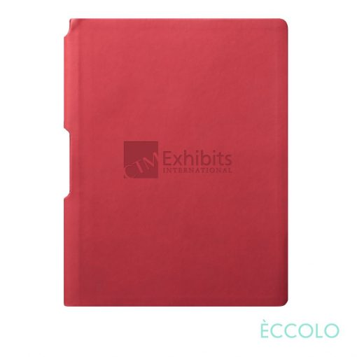 """Eccolo® Groove Journal - (M) 5¾""""x8¼"""" Red"""