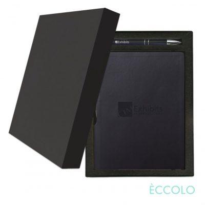 Eccolo® Groove Journal/Clicker Pen Gift Set - (M) Black