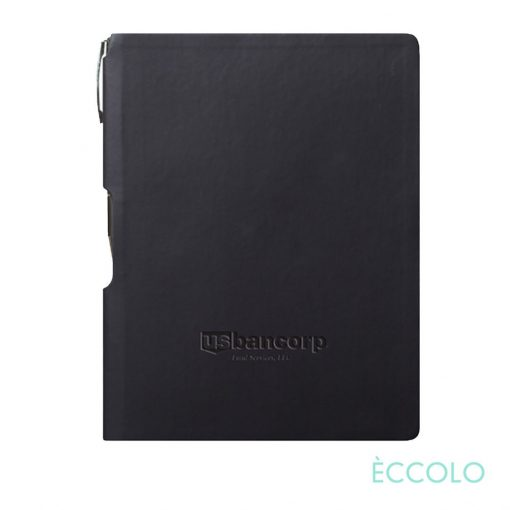Eccolo® Groove Journal/Clicker Pen - (M) Black