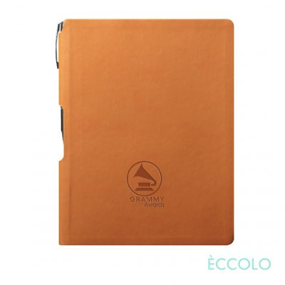 Eccolo® Groove Journal/Clicker Pen - (M) Orange