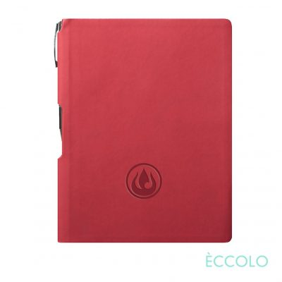 Eccolo® Groove Journal/Clicker Pen - (M) Red