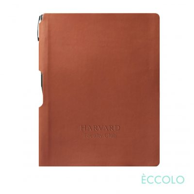 Eccolo® Groove Journal/Clicker Pen - (M) Terracotta