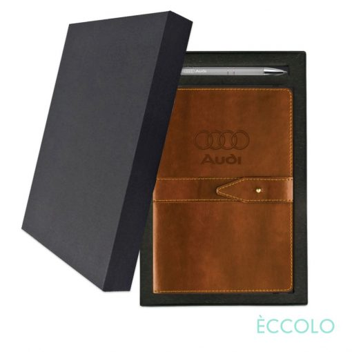 Eccolo® Legend Journal/Clicker Pen Gift Set - (M) Brown