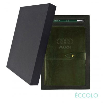 Eccolo® Legend Journal/Clicker Pen Gift Set - (M) Dark Green