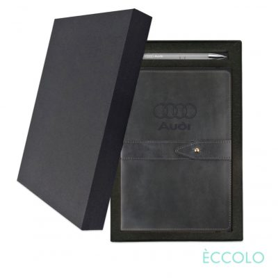Eccolo® Legend Journal/Clicker Pen Gift Set - (M) Gray