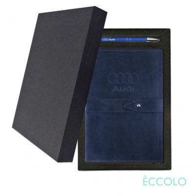 Eccolo® Legend Journal/Clicker Pen Gift Set - (M) Navy Blue