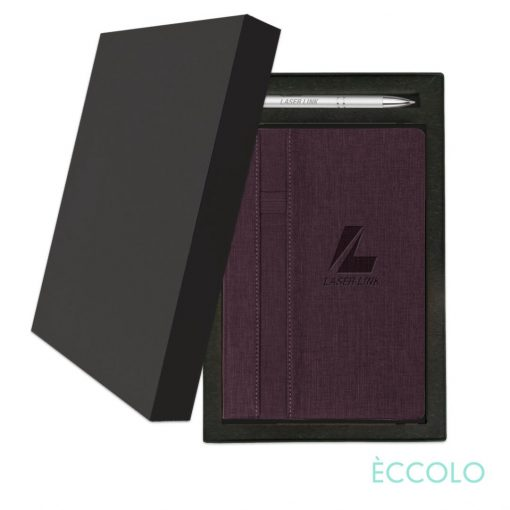 Eccolo® Lyric Journal/Clicker Pen Gift Set - (M) Burgundy