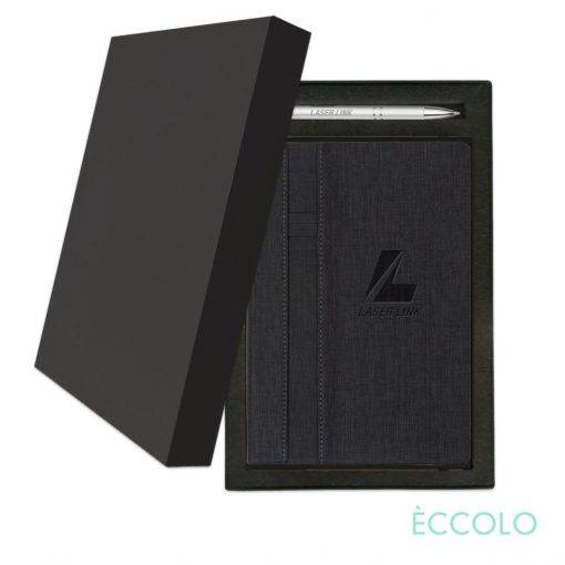 Eccolo® Lyric Journal/Clicker Pen Gift Set - (M) Charcoal