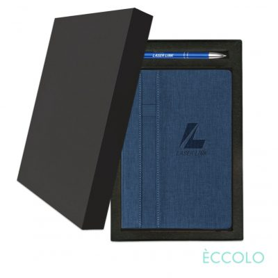 Eccolo® Lyric Journal/Clicker Pen Gift Set - (M) Dark Blue