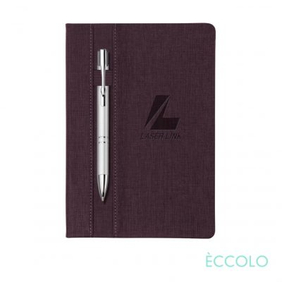 Eccolo® Lyric Journal/Clicker Pen - (M) Burgundy