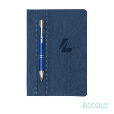 Eccolo® Lyric Journal/Clicker Pen - (M) Dark Blue
