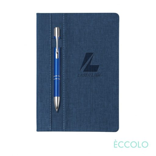 Eccolo® Lyric Journal/Clicker Pen - (M) Dark Blue