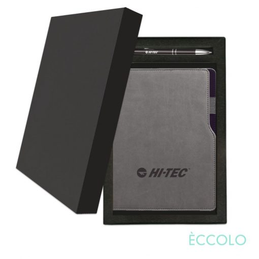 Eccolo® Mambo Journal/Clicker Pen Gift Set - (M) Black