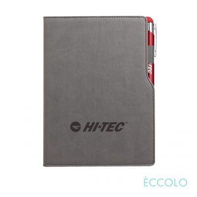 Eccolo® Mambo Journal/Clicker Pen - (M) Red