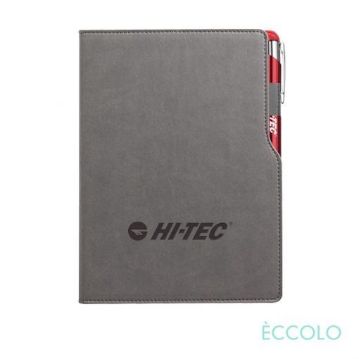 Eccolo® Mambo Journal/Clicker Pen - (M) Red