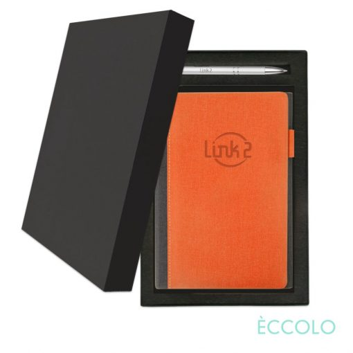 Eccolo® Nashville Journal/Clicker Pen Gift Set - (M) Orange
