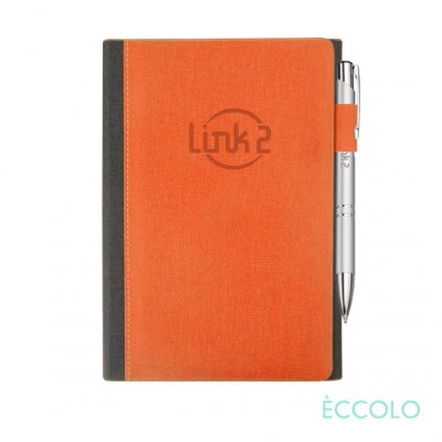 Eccolo® Nashville Journal/Clicker Pen - (M) Orange