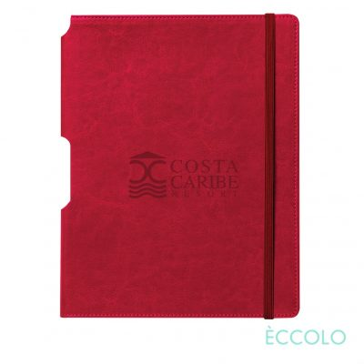 "Eccolo® Rhythm Journal - (L) 7""x9¾"" Red"
