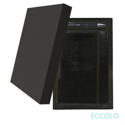 Eccolo® Rhythm Journal/Clicker Pen Gift Set - (M) Black